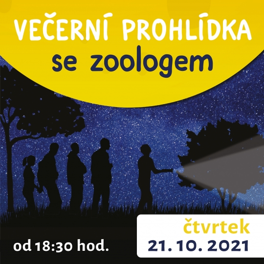 Večerní prohlídka se zoologem 21. 10. 2021