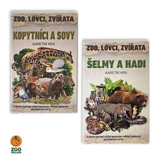 Karetní hra - Zoo, lovci, zívřata