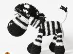 Háčkované zvířátko - zebra