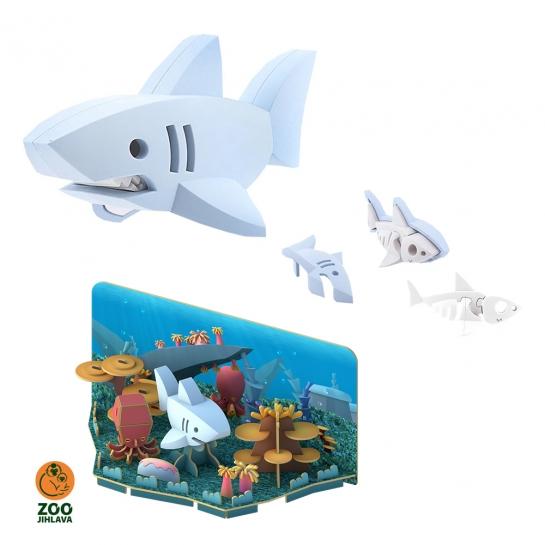 Edukativní skládací hračka -  žralok