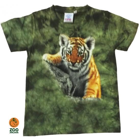Tričko batikované dětské - Tygr mládě