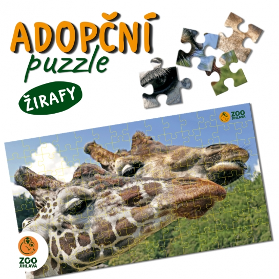 Adopční puzzle - žirafa