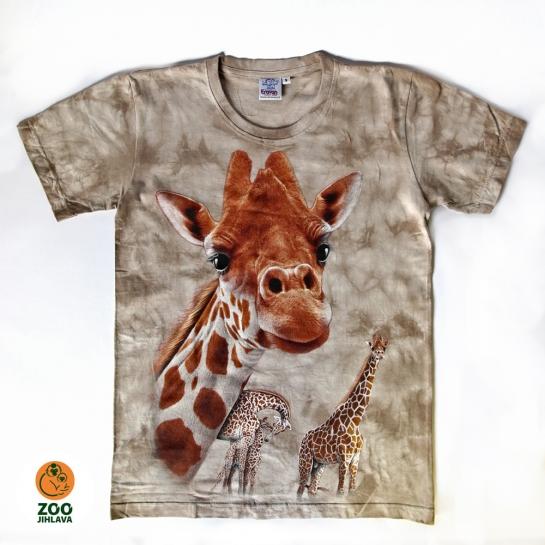 Tričko batikované dospělé - Žirafa