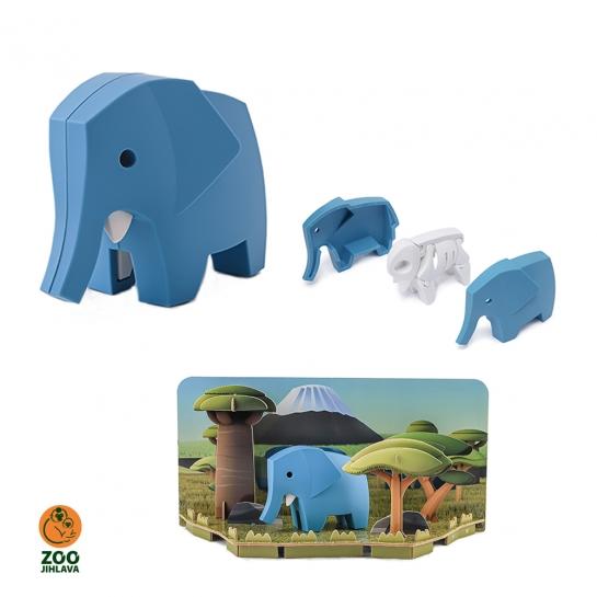 Edukativní skládací hračka - slon