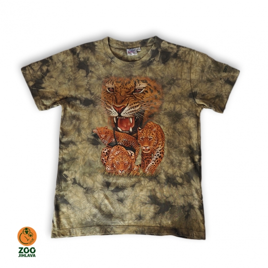 Tričko batikované dětské - Levhart