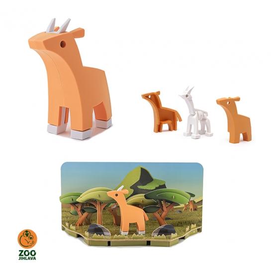 Edukativní skládací hračka - antilopa