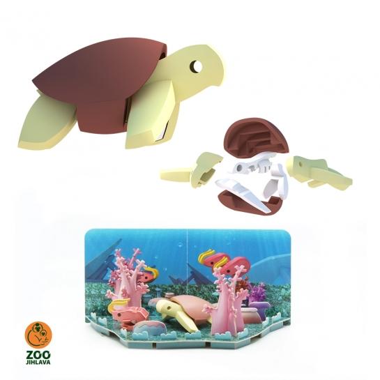 Edukativní skládací hračka - želva