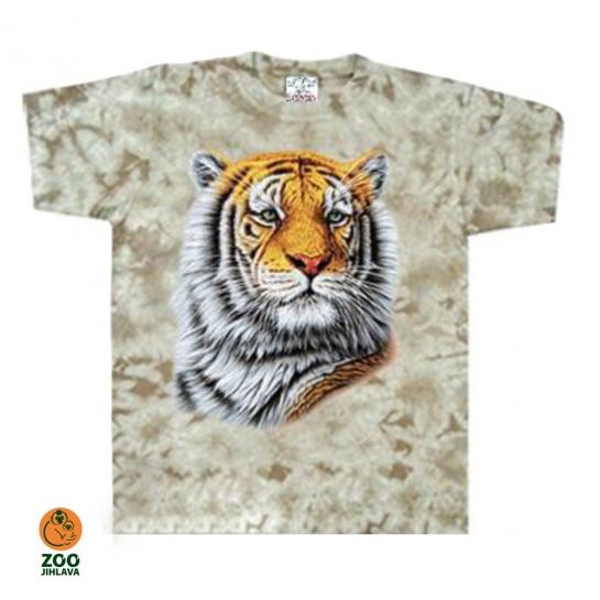 Tričko batikované dětské - Tygr