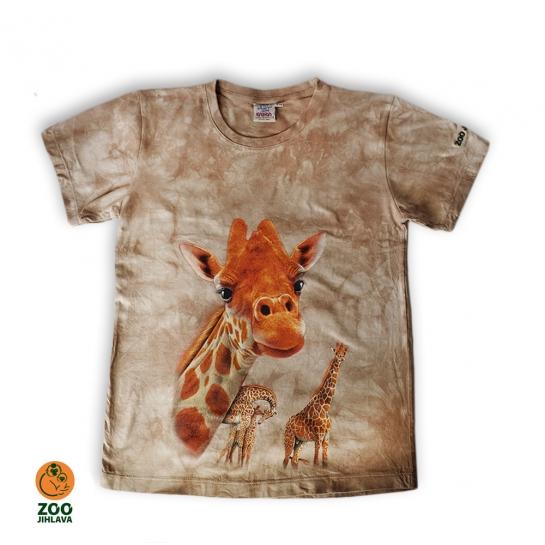 Tričko batikované dětské - žirafa
