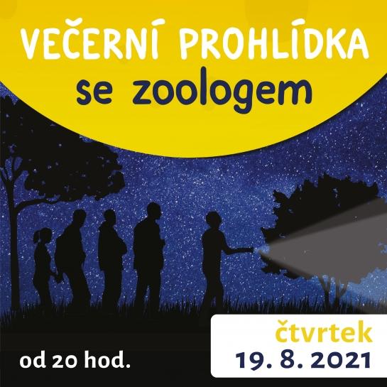 Večerní prohlídka se zoologem 19. 8. 2021