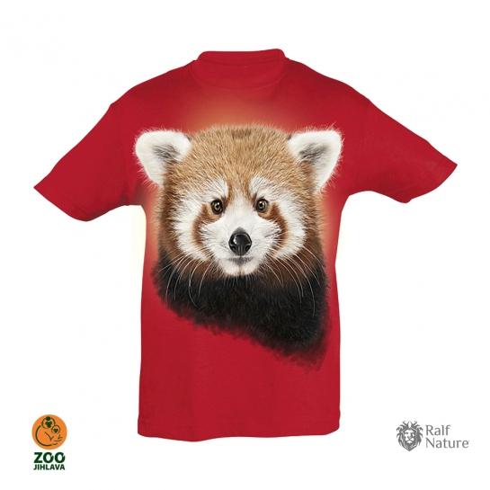 Tričko dětské - Panda červená - červené