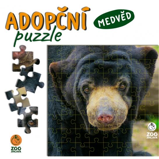 Adopční puzzle - medvěd