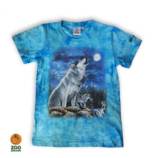 Tričko batikované dětské - Vlk skupina