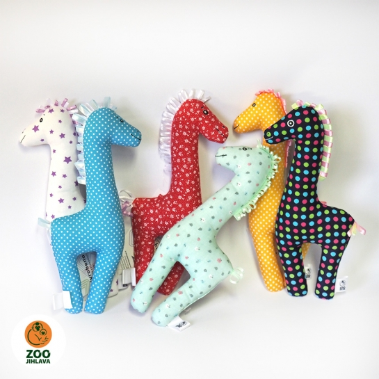 Látkové zvířátko - žirafa