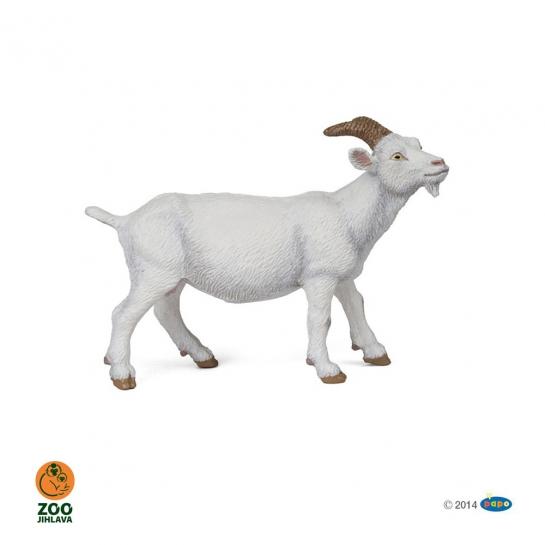 Figurka koza domácí bílá