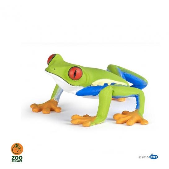 Figurka žába listovnice červenooká
