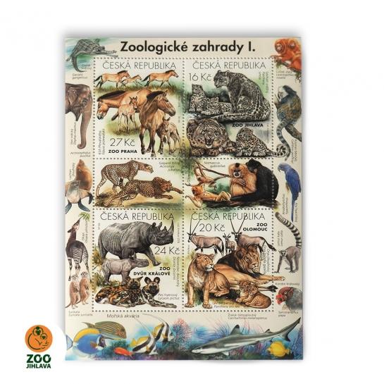 Známkový arch - Zoologické zahrady I
